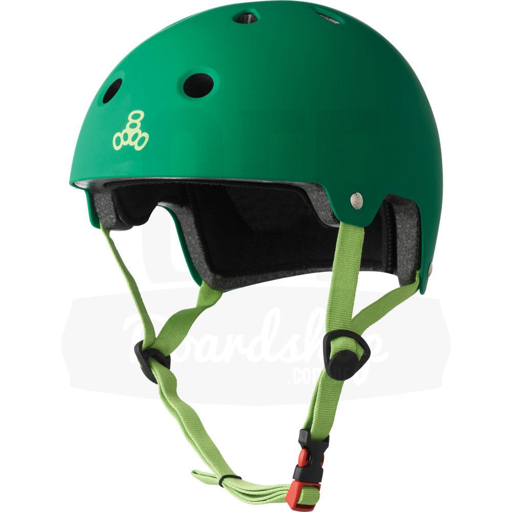 Capacete-Triple-Eight-Green-Rubber