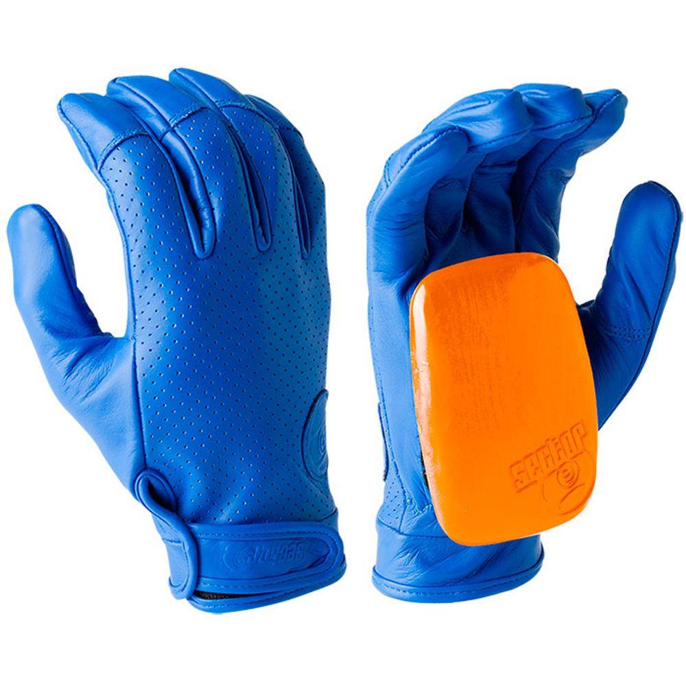 Luva-Sector-9-Driver-II-Leather-Slide-Blue