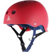 Capacete-triple-eight-red-rubber