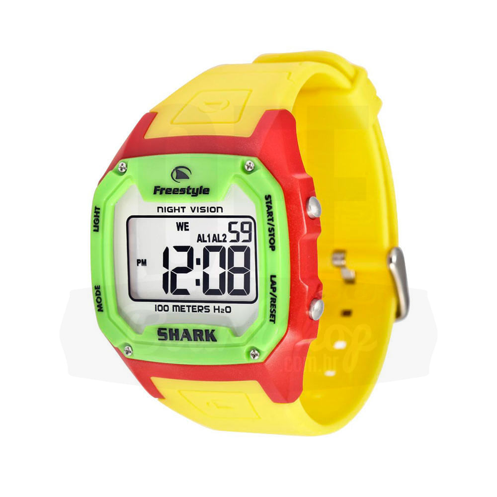 Relogio-Freestyle-Killer-Shark---Neon-Yellow-Green-Red