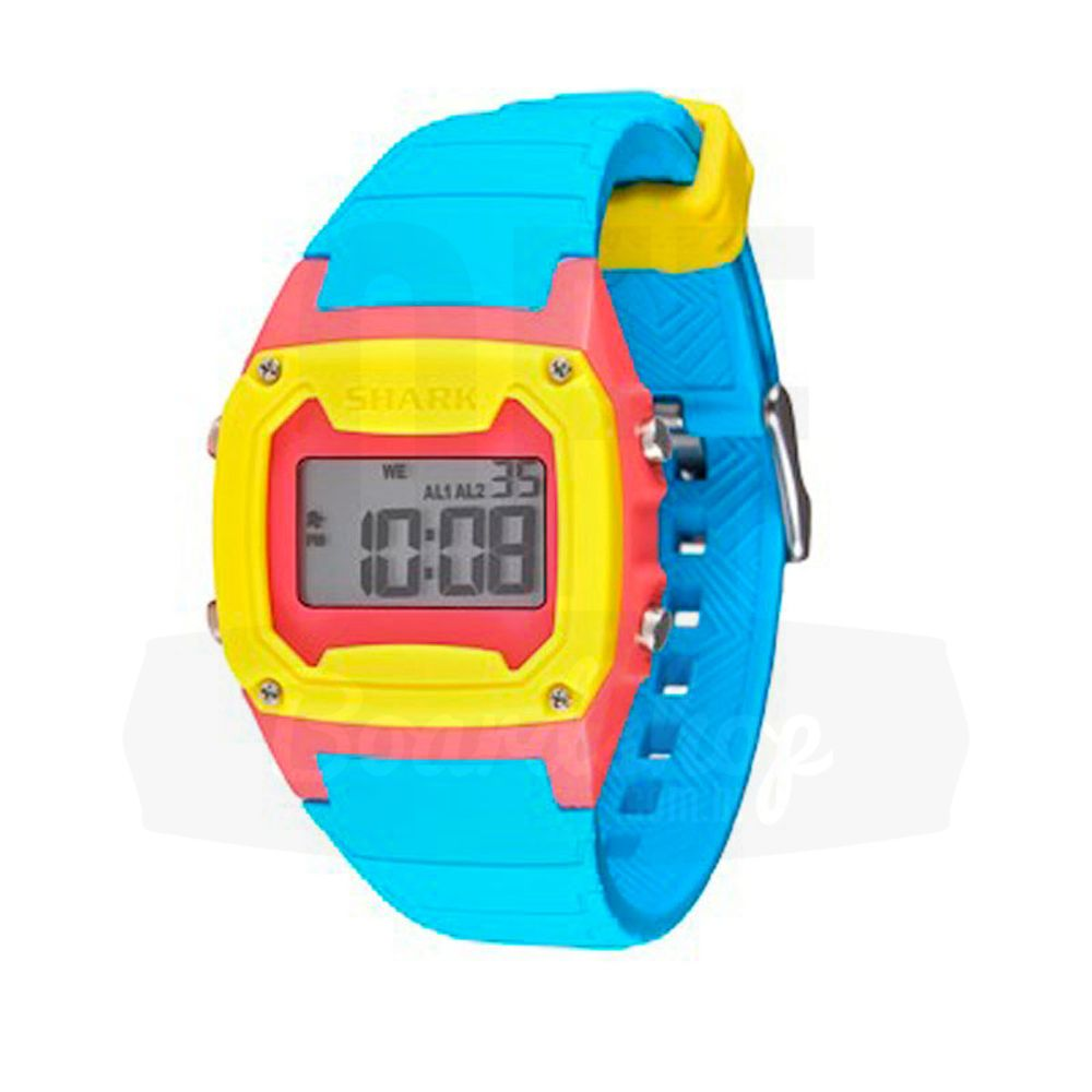 Relogio-Freestyle-Shark-Classic-Silicone---Cyan-Pink-Yellow