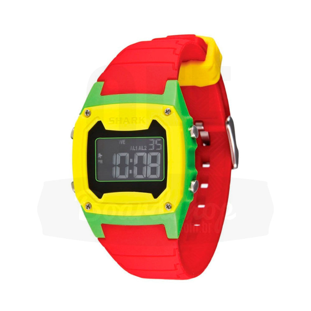 Relogio-Freestyle-Shark-Classic-Silicone---Red-Green-Yellow