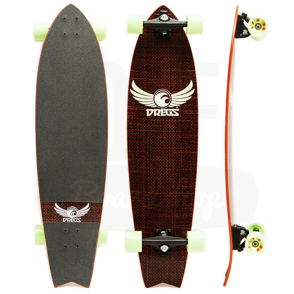 Longboard-Dregs-F1-Fiberweave-Red