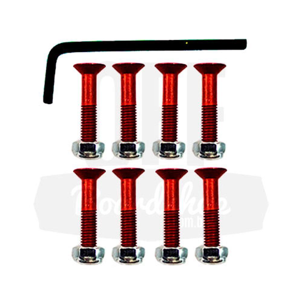Parafuso-de-Base-Tracker-Allen-25mm-Vermelho