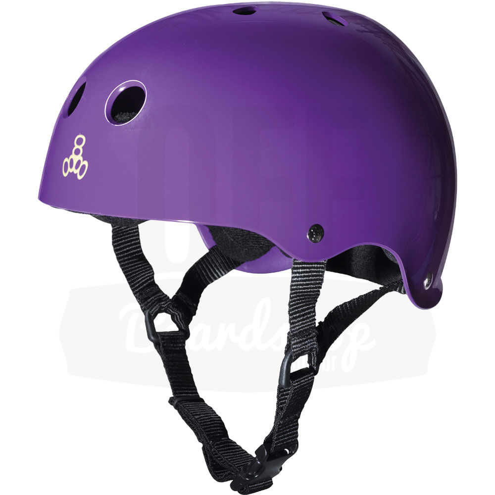 Capacete-Triple-Eight-Black-Glossy-Purple