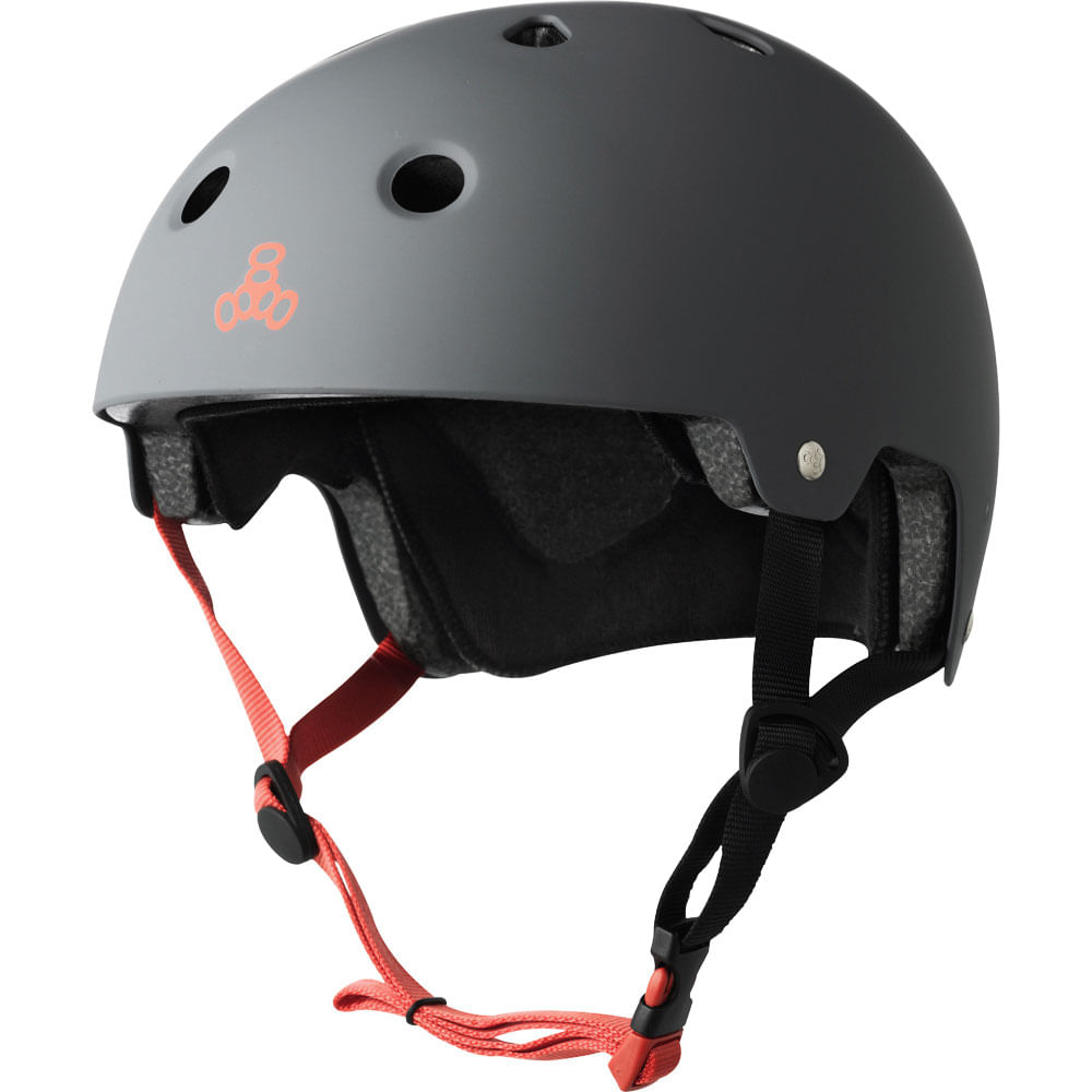 Capacete-Triple-Eight-Grey-Rubber