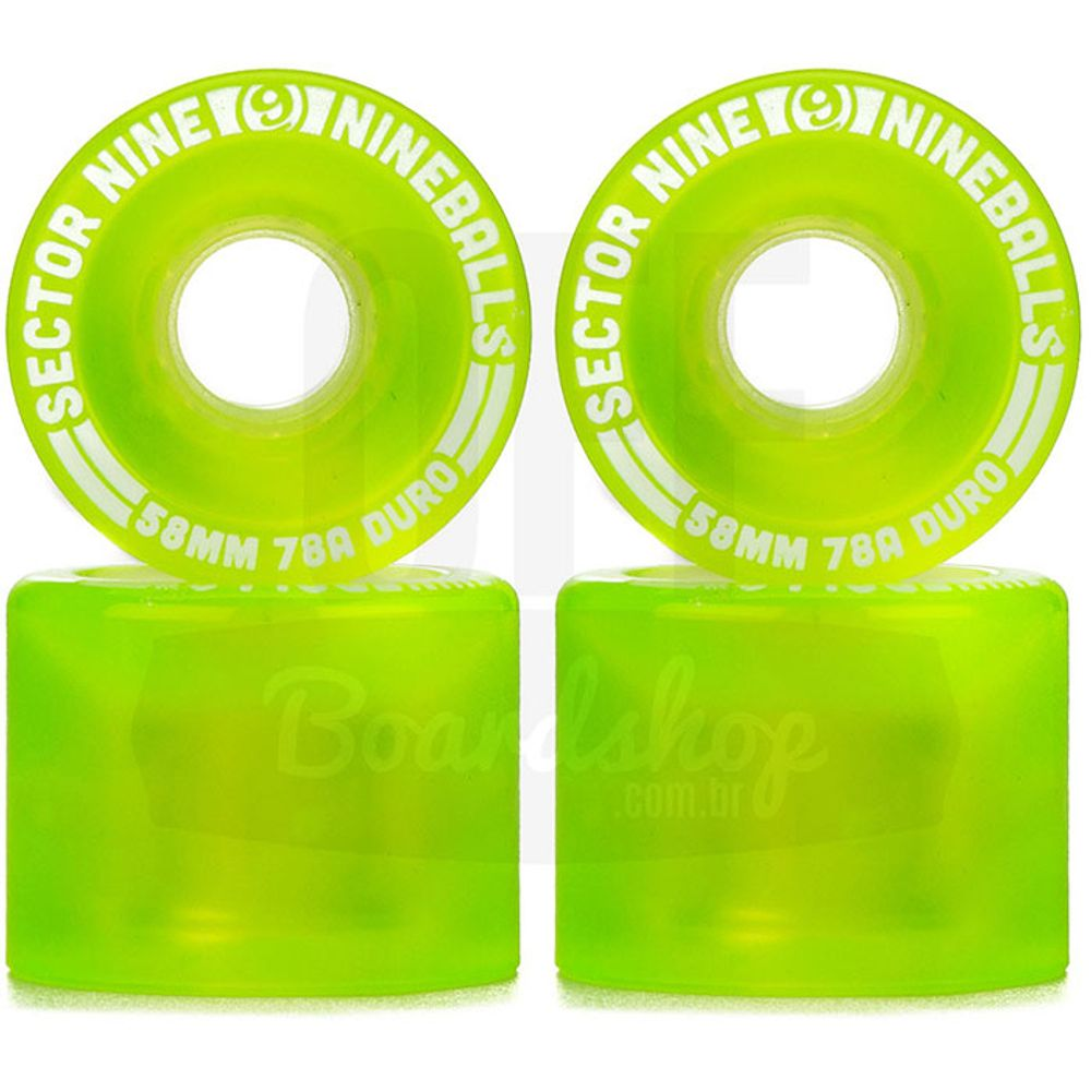 Roda-Sector-9-Nineballs-58mm-78A-Green