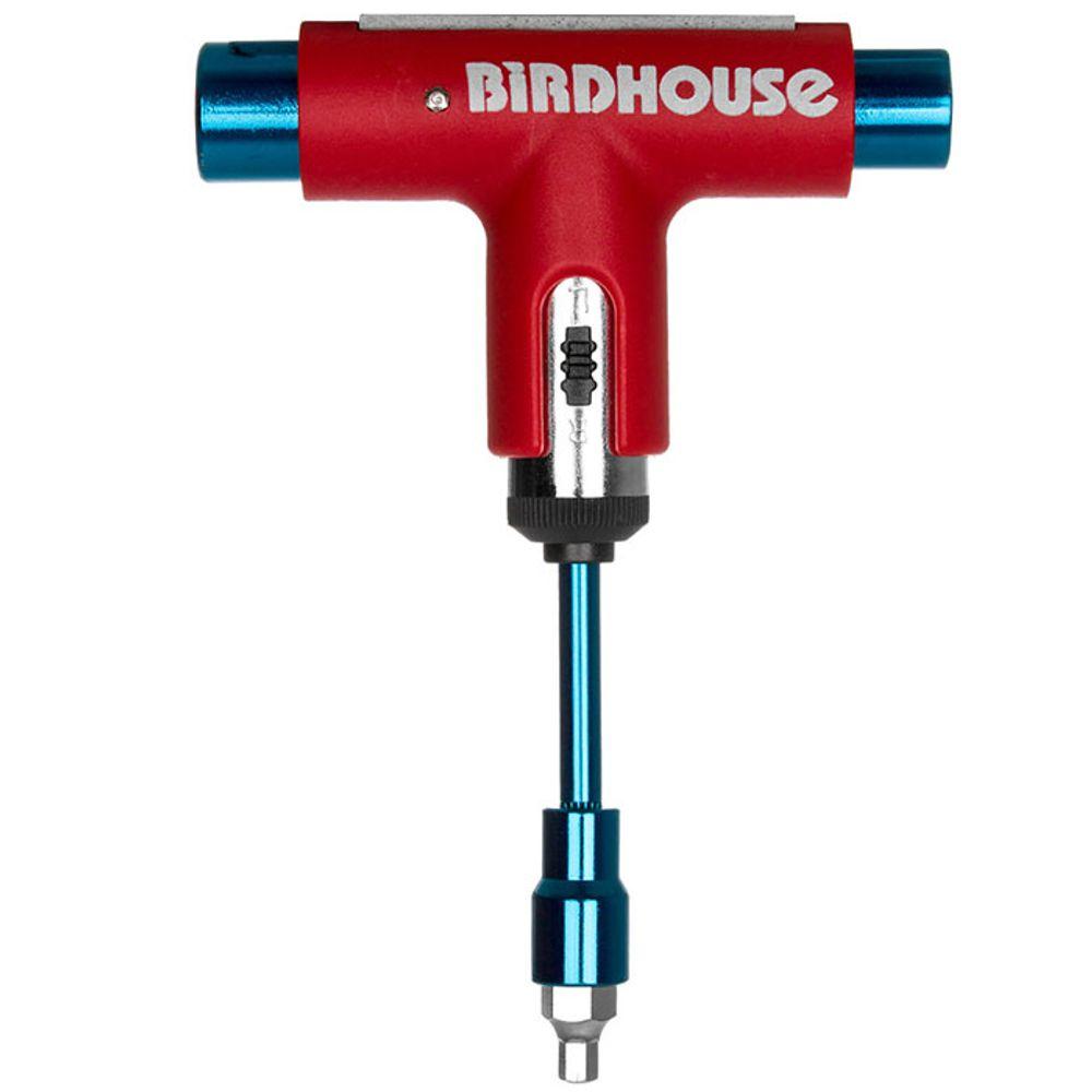 Chave-silver-birdhouse-vermelha-azul