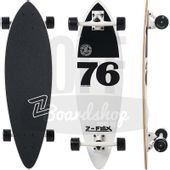 Longboard-Z-Flex-Mini-White-Black-Pintail-32
