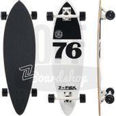 Longboard-Z-Flex-Mini-White-Black-Pintail-32