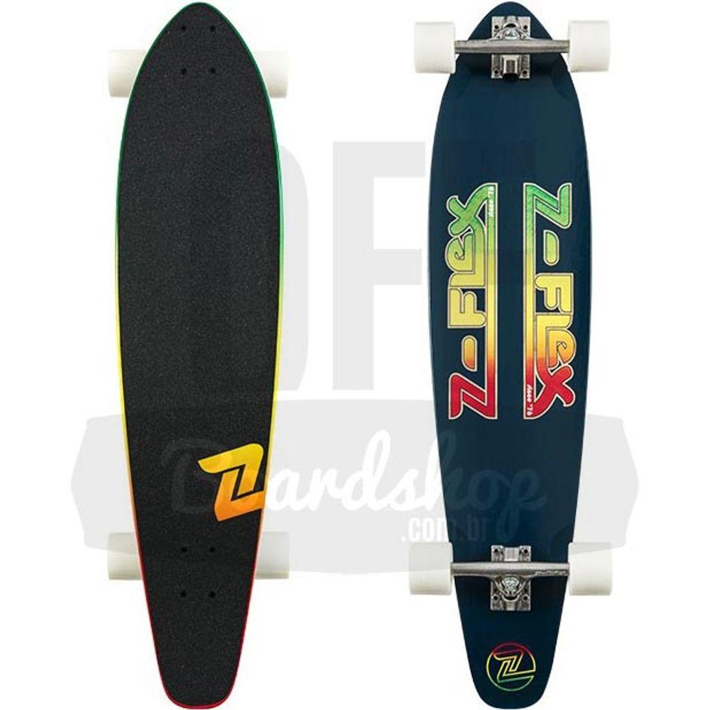 Longboard-Z-Flex-Navy-Rasta-Round-Tail-39
