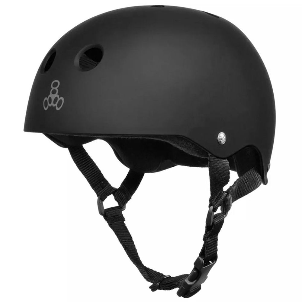 Capacete-Triple-Eight-Black-Rubber