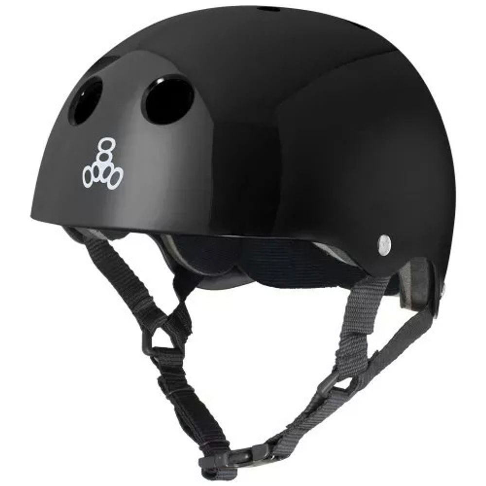 Capacete-Triple-Eight-Black-Gloss