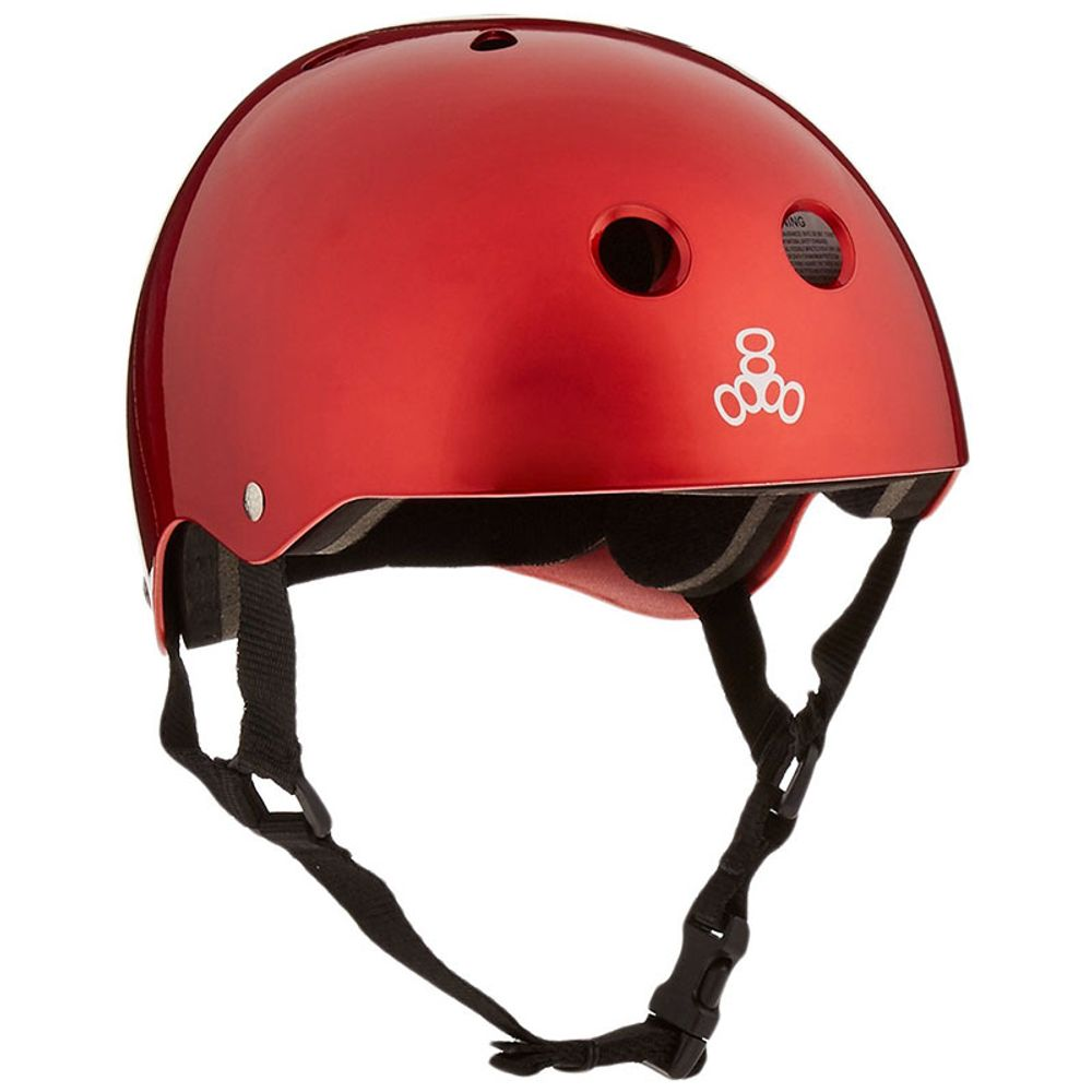 Capacete-Triple-Eight-Red-Metallic