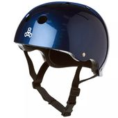 Capacete-Triple-Eight-Blue-Metallic