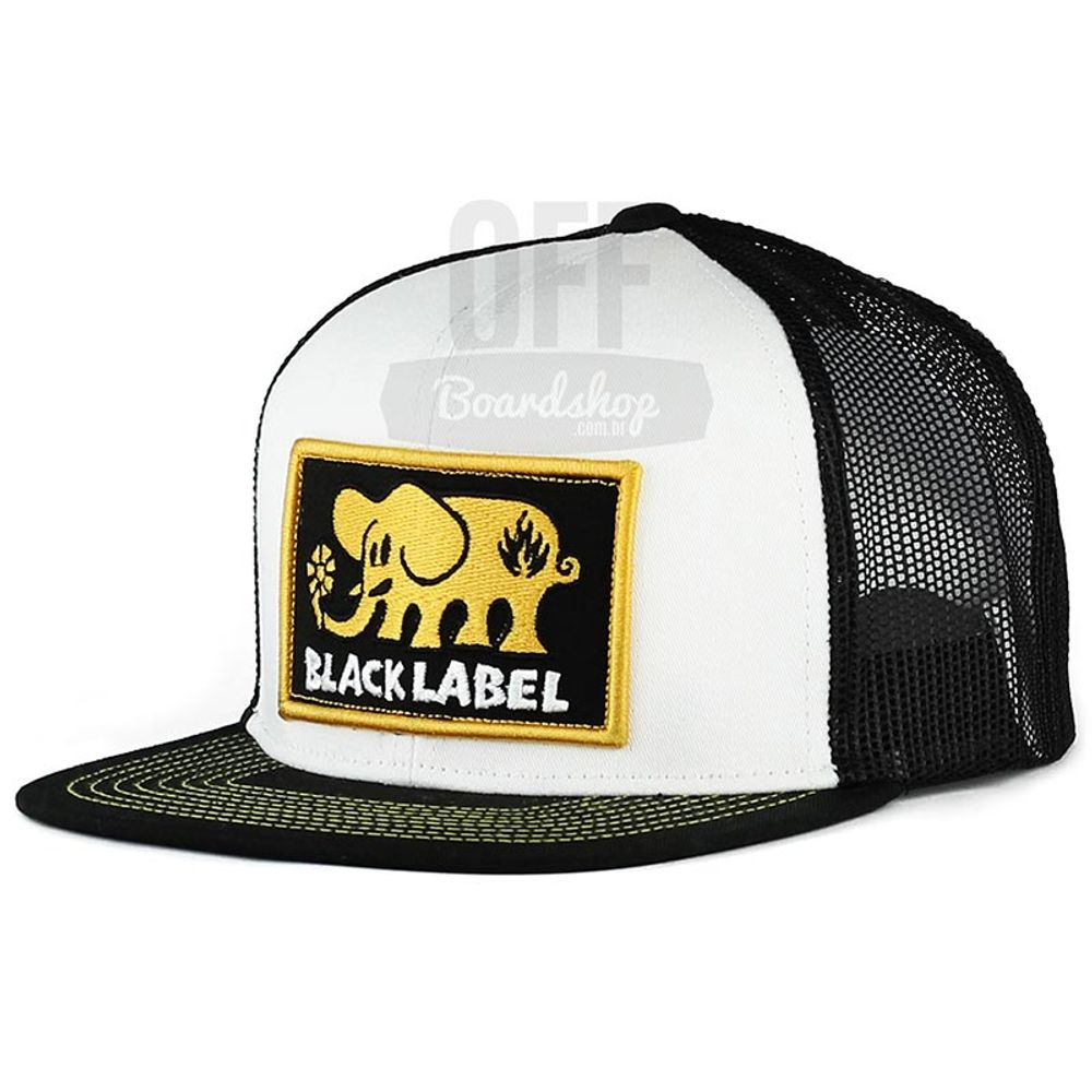 Bone-Black-Label-Elephant-Patch-Trucker