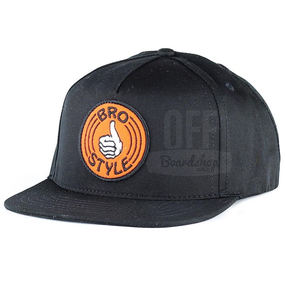 Bone-Bro-Style-Patch-Snapback-Black