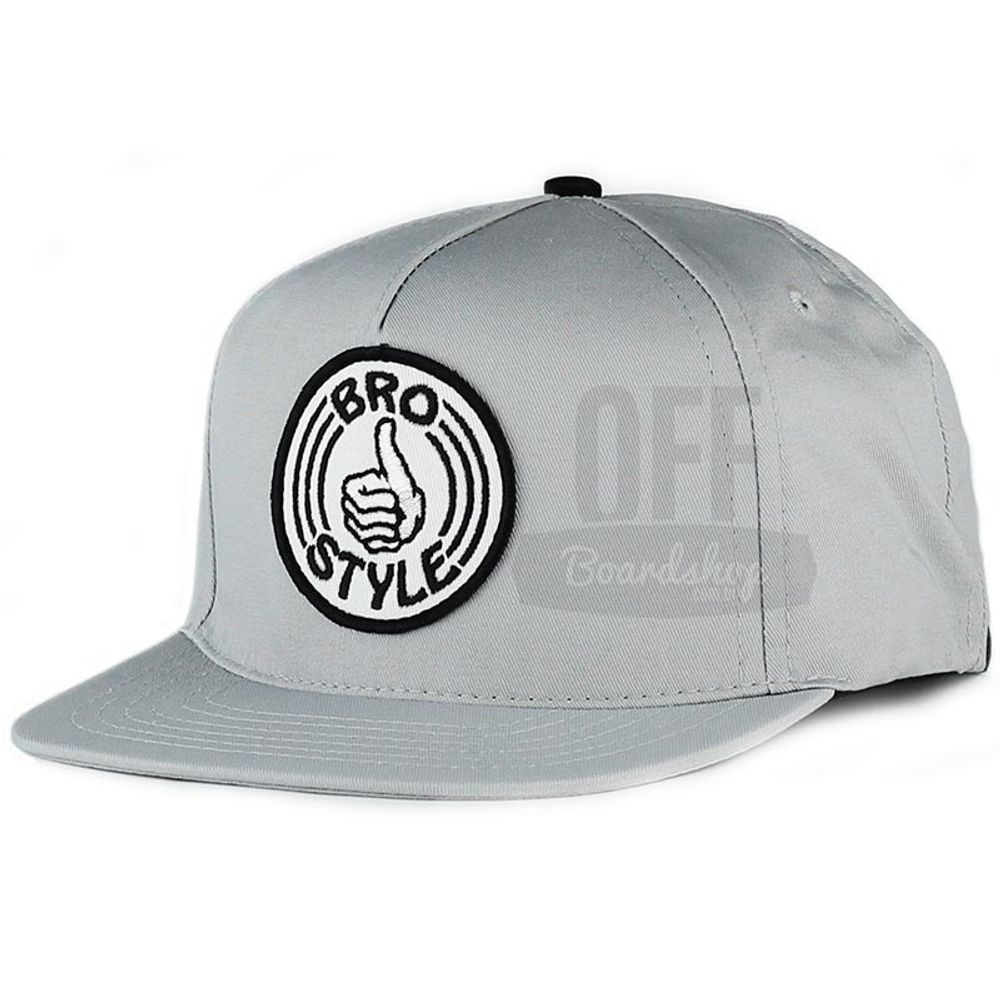 Bone-Bro-Style-Patch-Snapback-Grey