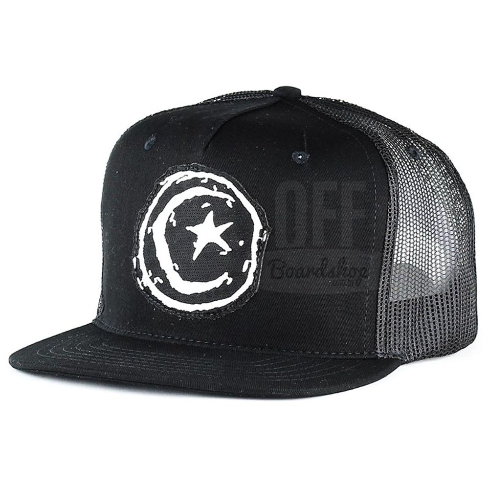 Bone-Foundation-Star-and-Moon-Patch-Trucker-Preto