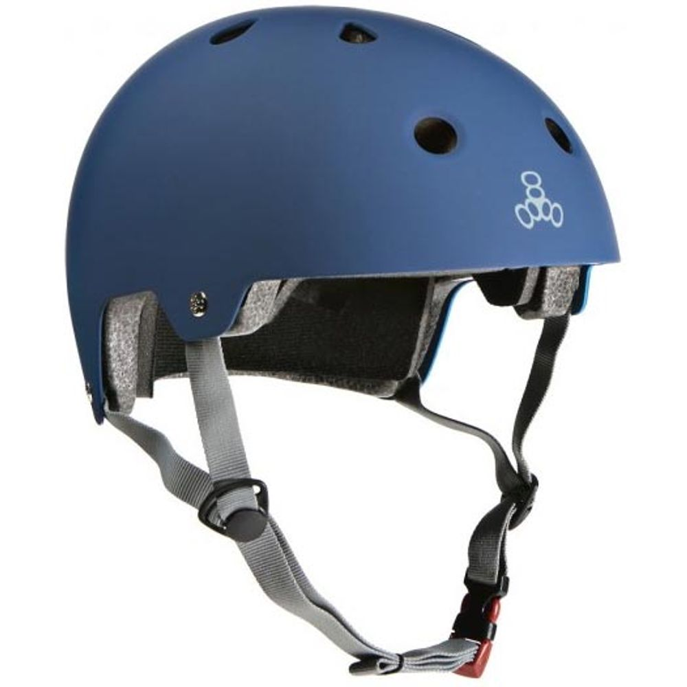 Capacete-Triple-Eight-Brainsaver-Blue-Rubber