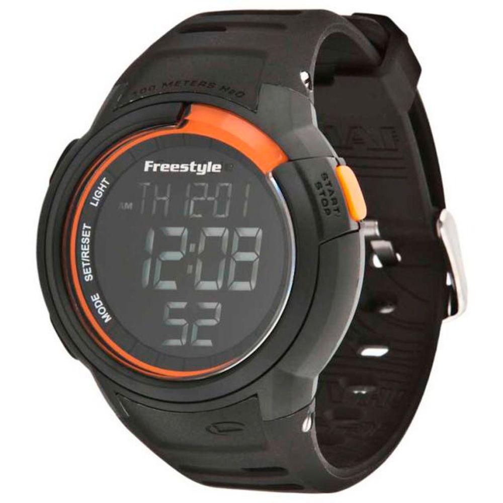 Relogio-Freestyle-Mariner-Black-Orange-Silicone