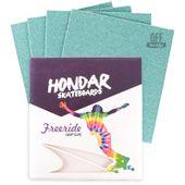Lixa-Hondar-Longboard-10-x-11-Verde-Tiffany--4-Folhas-