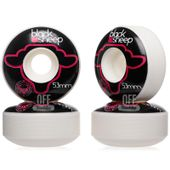 Roda-Black-Sheep-53mm-99A-Logo-Pink