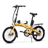 Bicicleta-Eletrica-Dobravel-Pliage-Plus-Amarela