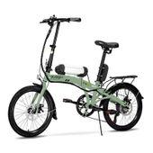 Bicicleta-Eletrica-Dobravel-Pliage-Plus-Verde-Militar